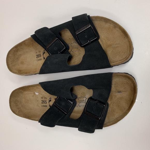 822a4369b264 Birkenstock Shoes - Birkenstock Sandals Black Suede Arizona 2 Strap 10